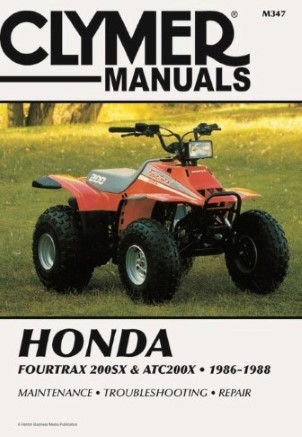 REPAIR MANUAL ATC200X FOURTRAX 200SX 86-87