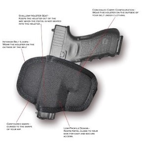 "The Impulse - Semi-Automatic Pistol Holster Compact 3""-3.5"""