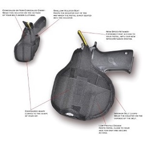 "The Rocket - Semi-Automatic Pistol Holster Compact 3""-3.5"""