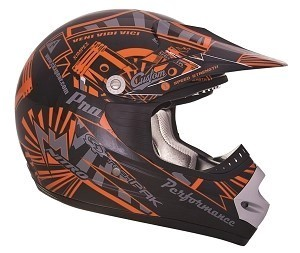 CKX Helmet TX-218 Pursuit Orange/Black