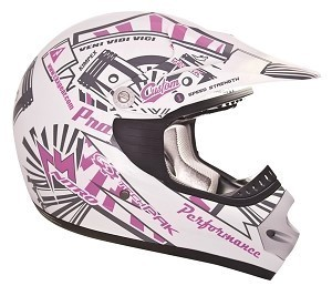 CKX Helmet TX-218 Pursuit Youth Pink/White