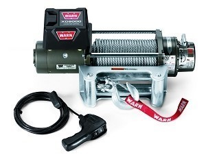Warn XD9000 Winch, 100' of Wire Rope