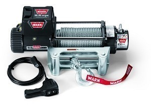 Warn 9.5xp Winch with Wire Rope, Roller Fairlead