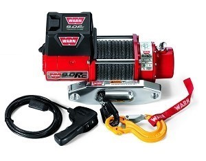 Warn 9.0Rc Winch, Synthetic Rope with Aluminum Hawse Fairlead